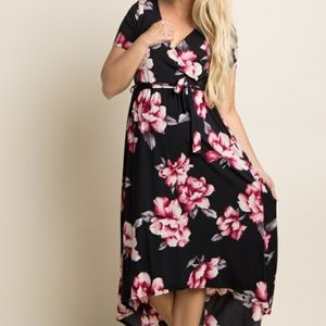 Maternity Floral Hi-Low Dress size Small